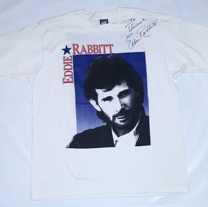 Vintage Eddie Rabbit Country music T shirt size XL